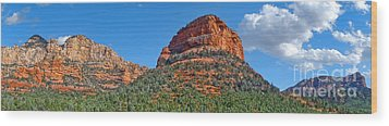 Sedona Arizona Panorama Wood Print by Gregory Dyer