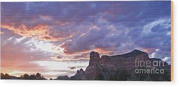 Sedona Arizona Sunset Wood Print by Gregory Dyer