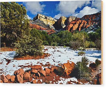 Sedona Arizona - Wilderness Wood Print by Bob and Nadine Johnston