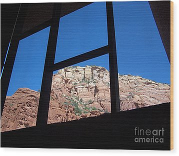 Wood Print featuring the photograph Sedona Chapel 4 by Tom Doud