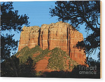 Sedona Courthouse Butte  Wood Print