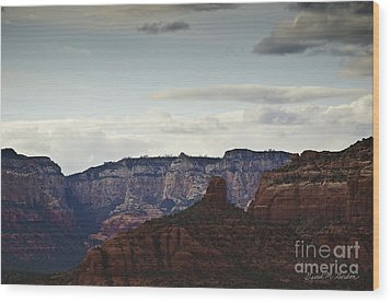 Sedona Landscape Xii Wood Print by Dave Gordon