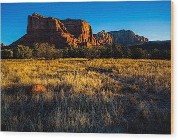 Sedona Light Wood Print by Bill Cantey
