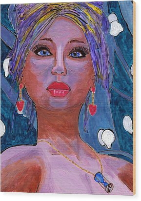 Sedona Moonlight Wood Print