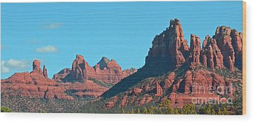 Wood Print featuring the photograph Sedona Panorama by Debby Pueschel