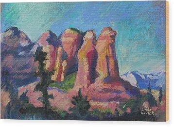 Sedona Peaks Wood Print