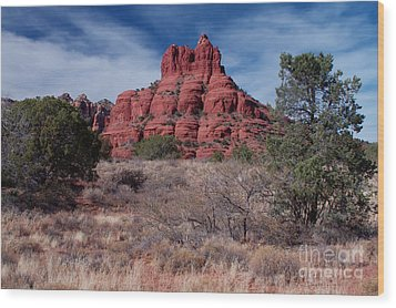Sedona Red Rock Formations Wood Print