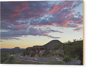Sedona Skies Rev. Wood Print by Tom Kelly