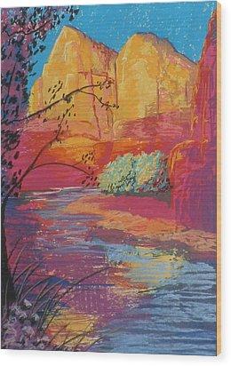 Sedona Sunrise Wood Print