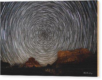 Sedona Trails Wood Print by Bill Cantey