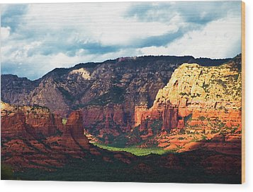 Sedona Sunrise Wood Print by Gilbert Artiaga