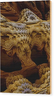 Wood Print featuring the digital art Sedona Vortex Inspiration by Steed Edwards