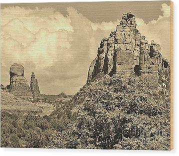 Sedona Wood Print by William Wyckoff