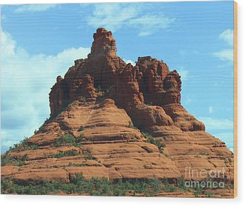 Sedona's Red Rock Wood Print by French Toast