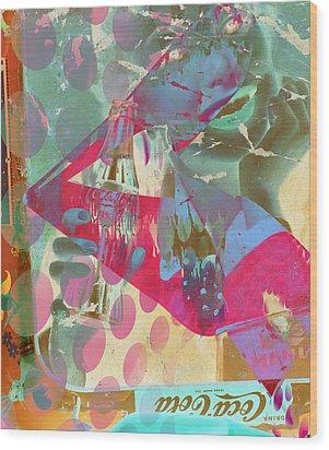 Seduction Of Soda  Wood Print by Jerry Cordeiro