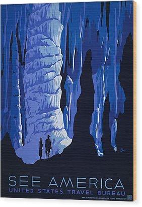 See America Wood Print by Georgia Fowler