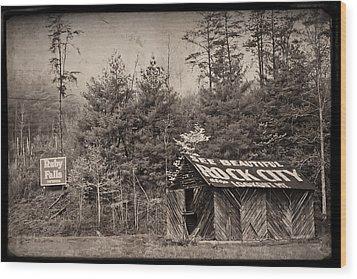 See Rock City  Wood Print by Debra and Dave Vanderlaan