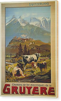 See Switzerland 1906 Wood Print by Mountain Dreams