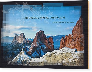 See Things From His Perspective Wood Print by Bruce Hamel