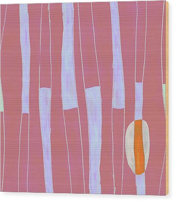 Seed Of Learning No. 4 Wood Print by Carol Leigh