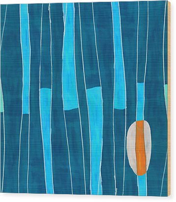 Seed Of Learning No. 5 Wood Print by Carol Leigh