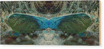 Seedwings Wood Print by WB Johnston