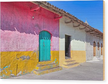 Seeing Pink In Latin America - Granada Wood Print by Mark E Tisdale