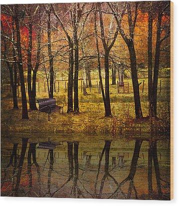 Seeing You Again Wood Print by Debra and Dave Vanderlaan