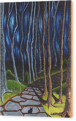Seeking A Shadow  Wood Print by Danielle R T Haney
