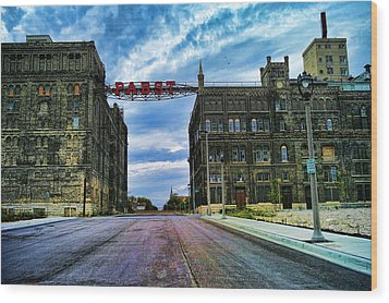 Seen Better Days Old Pabst Brewery Home Of Blue Ribbon Beer Since 1860 Now Derelict Wood Print by Lawrence Christopher