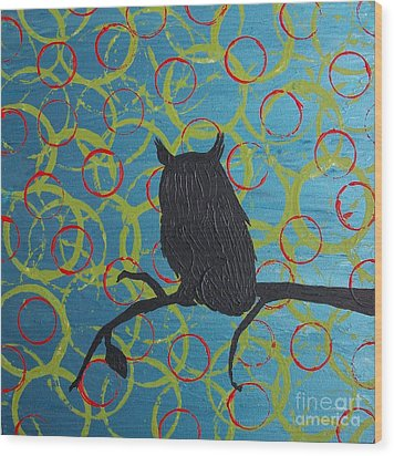 Wood Print featuring the painting Seer by Jacqueline McReynolds