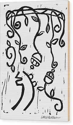 Sei Hei Ki With Flowers Wood Print by Lynn-Marie Gildersleeve