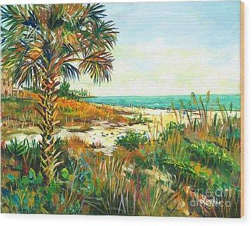 Seista Solstice Wood Print by Lou Ann Bagnall