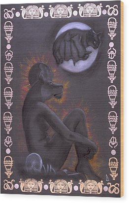 Sekhmet And Bastet Wood Print by Diana Perfect