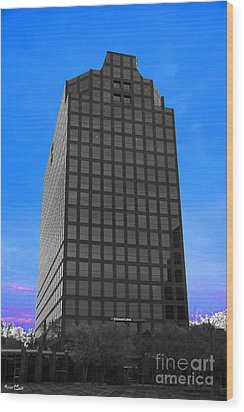 Selective Color Hi Rise Wood Print by Bill Woodstock