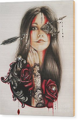 Self Affliction Wood Print by Sheena Pike