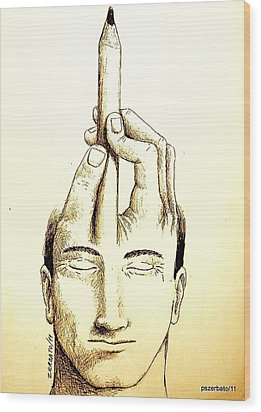 Self-expression Wood Print by Paulo Zerbato
