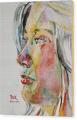 Self Portrait 4 Wood Print by Becky Kim