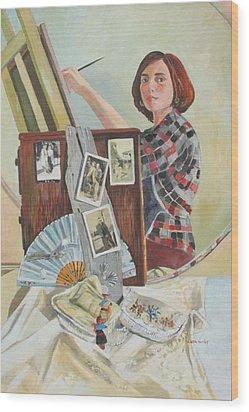Self Portrait Age 33 Wood Print