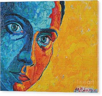 Self Portrait Wood Print by Ana Maria Edulescu