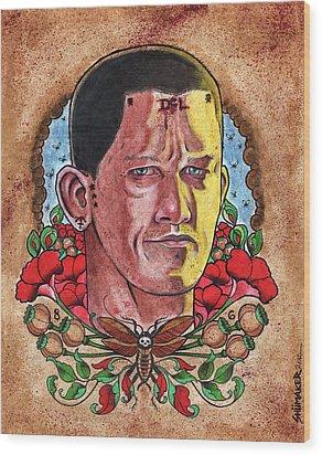 Self Portrait Wood Print by David Shumate