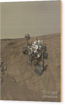 Self-portrait Of Curiosity Rover Wood Print by Stocktrek Images