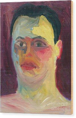 Self Portrait Oil Panting Wood Print