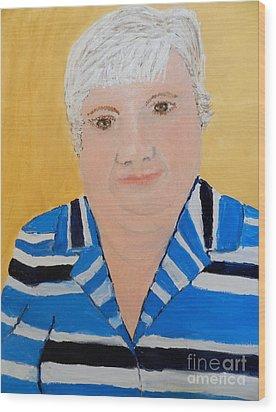 Self Portrait Wood Print by Pamela  Meredith