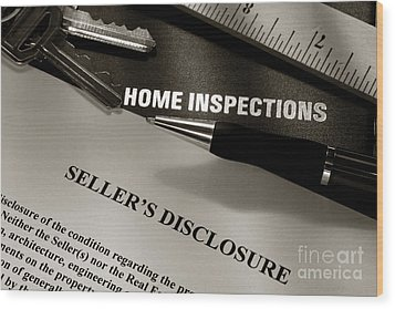 Seller Disclosure Wood Print by Olivier Le Queinec