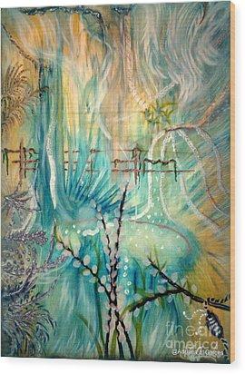 Selva Sfumato Wood Print by Adriana Garces