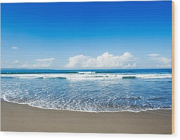 Wood Print featuring the photograph Seminyak Beach by Yew Kwang