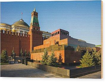 Senate Tower And Lenin's Mausoleum Wood Print by Alexander Senin