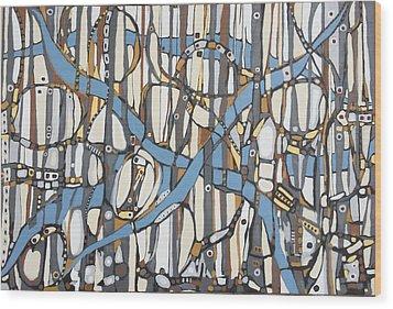 Senderos # 10 Wood Print