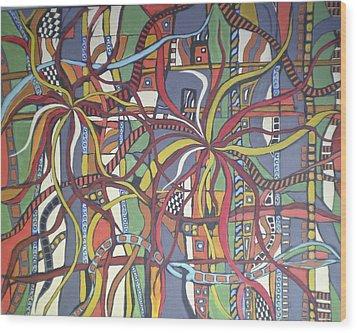 Senderos #3 Wood Print